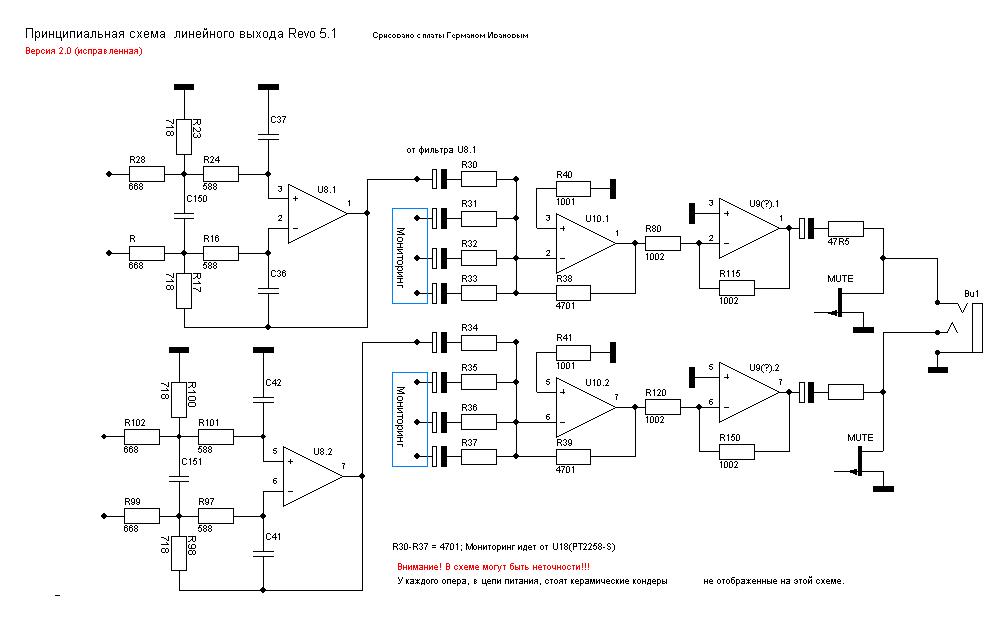 схема линейного выхода.